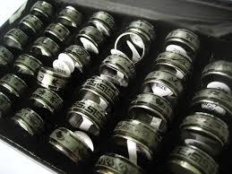 mens spinner rings wholesale 36pcs black mixed designs mens stainless steel spinner