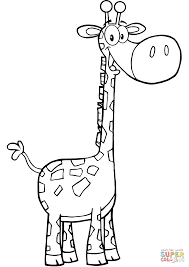 happy giraffe coloring page free printable coloring pages