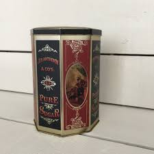 vintage tin replica harry u0027s grocery wonderful kitchen canister