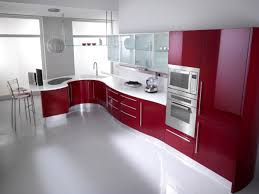 Kitchen Cabinet Colours Red And White Kitchen Cabinets Black Countertops With Cabinet
