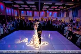 san diego wedding planners white floor with monogram gobo instyle event