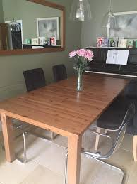 Extendable Dining Table Seats 10 Ikea Stornas Extendable Dining Table Can Seat 10 When Extended