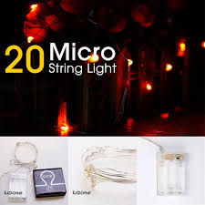micro lights with timer lidore micro led 20 orange string lights with timer battery operated