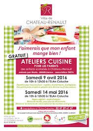 cours cuisine parent enfant la mairie de château renault atelier cuisine pour les parents