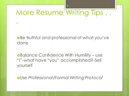 writing your experiential resume for the intern principal