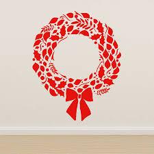 christmas wreath wall sticker by oakdene designs christmas wreath wall sticker