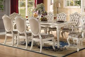 chantelle pearl white dining room set by acme furniture home