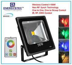 Led Outdoor Flood Lights 50w Rgb Led Flood Light Rf Wireless Control 100 Meters Outdoor