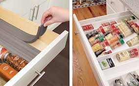 Spice Rack In A Drawer Spice Storage Ideas For Small Spaces Improvements Blog