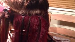 micro weft extensions micro ring weave demonstrated by jem hair extensions scotland