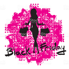 cute cartoon slim woman silhouette with shopping bags stock vector