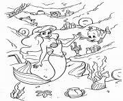ariel making deal ursula disney princess s1603 coloring pages
