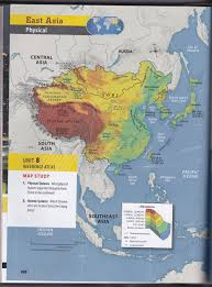 Asia Geography Map by Mr Izor U0027s Akins Geography East Asia Sketch Map Questions