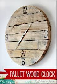 Free Wooden Clock Plans Download by Trash To Treasure How To Make A Pallet Wood Clock Thistlewood Farm