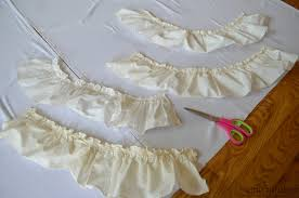Cream Ruffle Curtains No Sew Farmhouse Curtains Little Vintage Nest