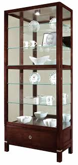 curio cabinet with light contemporary curio cabinets the clock depot