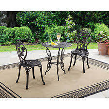 outdoor iron table and chairs cast iron garden furniture ebay