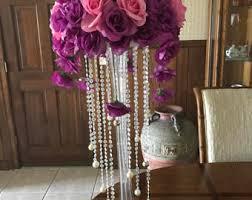 purple wedding centerpieces etsy