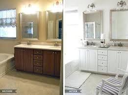 how to paint bathroom cabinets white painted bathroom cabinets before and after locksmithview com