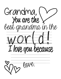 free printable easy mother s day present grandma page 001