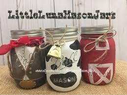 wild west birthday party jar set cow jar with bell