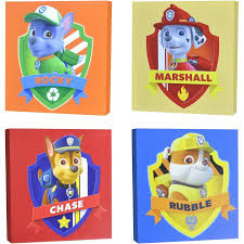 nickelodeon paw patrol 4 piece canvas wall art walmart