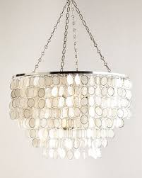 Ironies Chandelier Capiz Shell Lighting Horchow Com