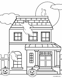 house tags free printable halloween coloring pages haunted house