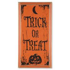 trick or treat sign fall home decor sturbridge yankee workshop