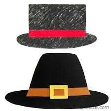 Pilgrim Hats Out Of Construction Paper - easy paper hat craft crafts firstpalette