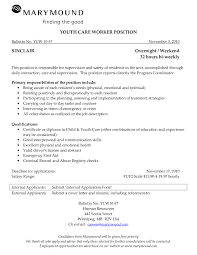 Home Health Care Job Description For Resume by Youth Care Worker Job Description Apsodigimergenet Resume Examples