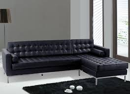 Silver Floor L L Shape Sofa With Tufted Surface Plus Silver Steel Legs On The