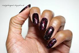 gel ii poisoned apple u0026 midnight black simply into my nails