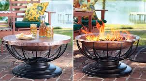 Copper Firepit A Solid Hammered Copper Pit That Converts To A Table
