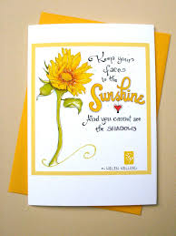 happy cards sunflower card sympathy card get well card