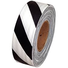 plastic ribbon safety striped flagging 1 3 16 non adhesive