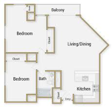 Two Bedroom Floor Plans One Bath One And Two Bedroom Apartments In San Francisco For Rent At