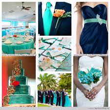 nigerian wedding cyan aqua blue and navy blue wedding color scheme