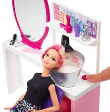 barbie sparkle style salon u0026 doll blonde dtk05 barbie