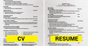 cv vs cv difference between cv and resume 28 images cv resume resume cv
