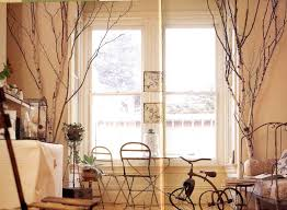 LET S STAY Birch Poles & Branches in interiors Green Decor & Design