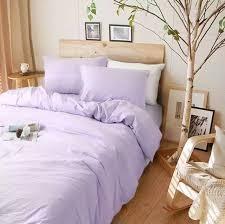 lavender purple duvet cover purple bedding in natural linen