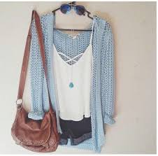 light blue cardigan sweater shirt white shirt bag cardigan light blue fall fall