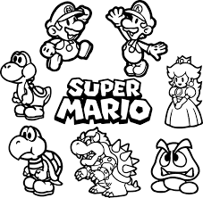 mario luigi coloring pages free super super mario