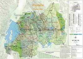 Rwanda Africa Map by Rwanda Maps