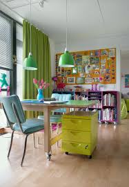 colorful home decor create a cheerful atmosphere with colorful home office design