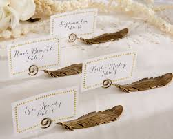 gold l place card holders