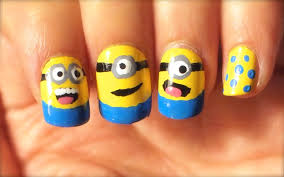 how to do minions nail art youtube