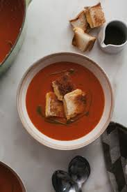 roasted tomato soup with grilled cheese croutons u2013 a cozy kitchen