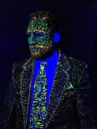 Glow Dark Halloween Costumes Glowing Vincent Van Gogh Halloween Costume Fit Artist